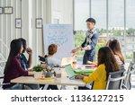 asian creative manager man... | Shutterstock . vector #1136127215