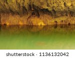 gold stone in cave | Shutterstock . vector #1136132042