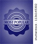 most popular badge with jean... | Shutterstock .eps vector #1136145302