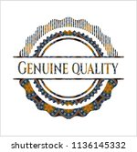 genuine quality arabic emblem... | Shutterstock .eps vector #1136145332