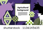 horizontal banner with the... | Shutterstock .eps vector #1136145635