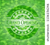 grand opening realistic green... | Shutterstock .eps vector #1136156246