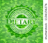 dietary green emblem with... | Shutterstock .eps vector #1136156276