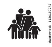 family icon. family with kids... | Shutterstock .eps vector #1136157272