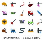 colored vector icon set   field ... | Shutterstock .eps vector #1136161892