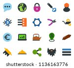 colored vector icon set  ... | Shutterstock .eps vector #1136163776