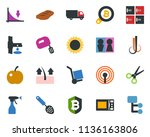 colored vector icon set   plum... | Shutterstock .eps vector #1136163806