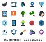 colored vector icon set  ... | Shutterstock .eps vector #1136163812
