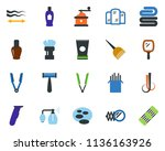 colored vector icon set  ... | Shutterstock .eps vector #1136163926