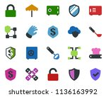 colored vector icon set  ... | Shutterstock .eps vector #1136163992