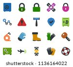 colored vector icon set   plane ... | Shutterstock .eps vector #1136164022