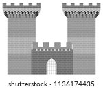 castle tower image | Shutterstock .eps vector #1136174435