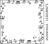 Music Notes Photo Frame