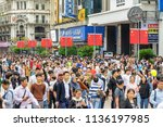 shanghai  china   october 3 ... | Shutterstock . vector #1136197985