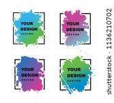 abstract modern frame vector... | Shutterstock .eps vector #1136210702
