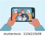 vector cartoon illustration.... | Shutterstock .eps vector #1136215658