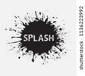black paint splatters.paint... | Shutterstock .eps vector #1136223992