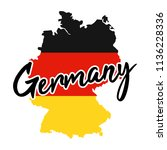 germany map silhouette flag... | Shutterstock .eps vector #1136228336