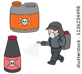 vector set of pesticide and... | Shutterstock .eps vector #1136234498