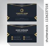 business model name card luxury ... | Shutterstock .eps vector #1136237318