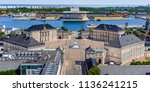 aerial view of amalienborg... | Shutterstock . vector #1136241215