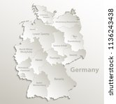 germany map separate region... | Shutterstock .eps vector #1136243438