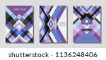 set of cover page layouts ... | Shutterstock .eps vector #1136248406