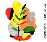 abstract stylish illustration... | Shutterstock . vector #1136251952