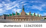 the old stock exchange  danish  ... | Shutterstock . vector #1136253035