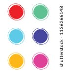 abstract circle set | Shutterstock .eps vector #1136266148