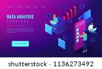 data analysis services landing... | Shutterstock .eps vector #1136273492