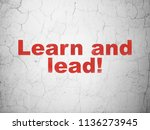 education concept  red learn... | Shutterstock . vector #1136273945