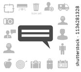 flat  icon of a communication.... | Shutterstock .eps vector #1136281328