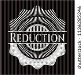reduction silver badge | Shutterstock .eps vector #1136285246
