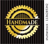 handmade gold badge or emblem | Shutterstock .eps vector #1136285342