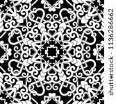 hand drawn seamless pattern... | Shutterstock . vector #1136286662