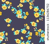 seamless pattern in small... | Shutterstock .eps vector #1136286752