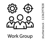 group of people with cogwheel... | Shutterstock .eps vector #1136297828