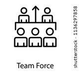 five members of team in which... | Shutterstock .eps vector #1136297858