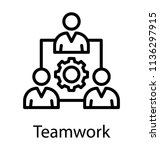 team of people connected... | Shutterstock .eps vector #1136297915