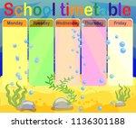design of the school timetable... | Shutterstock .eps vector #1136301188