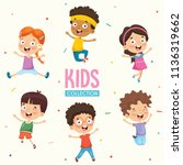 happy kids playing | Shutterstock .eps vector #1136319662