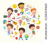 vector illustration collection... | Shutterstock .eps vector #1136319665