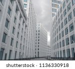 white wall with wide windows... | Shutterstock . vector #1136330918