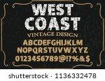 font alphabet typeface named... | Shutterstock .eps vector #1136332478