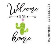 welcome no pricks allowed... | Shutterstock .eps vector #1136337275