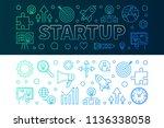 startup creative horizontal... | Shutterstock .eps vector #1136338058