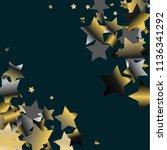 diagonal border from confetti...   Shutterstock .eps vector #1136341292