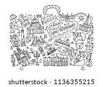 travel to saint petersburg ... | Shutterstock .eps vector #1136355215