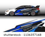 car decal graphic vector  truck ... | Shutterstock .eps vector #1136357168